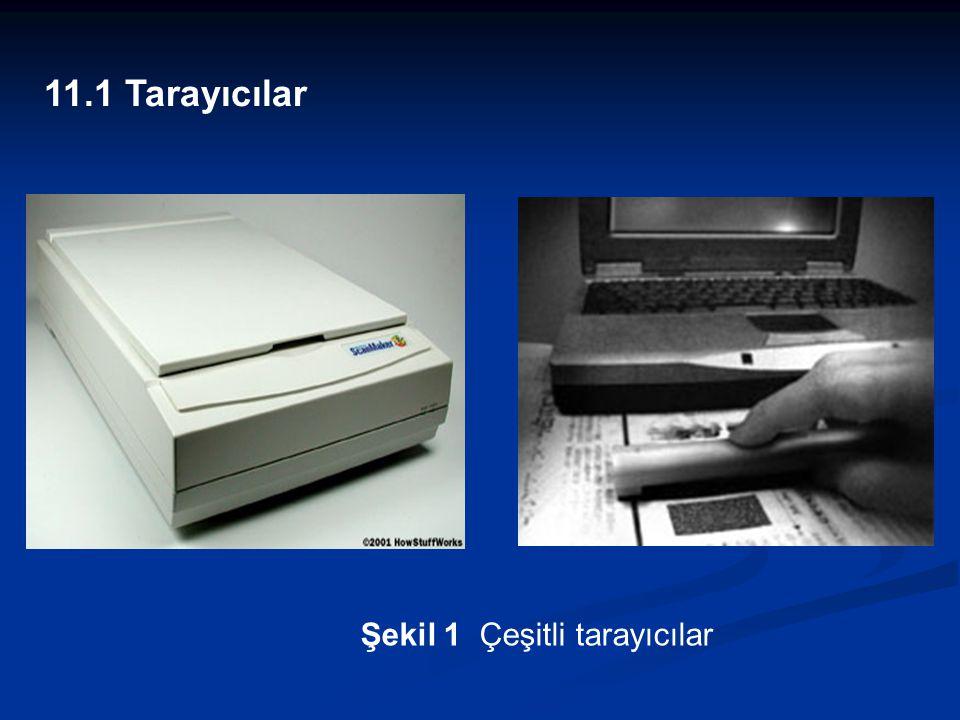  Flatbed Scanners (Masaüstü Tarayıcılar): Piyasada en çok kullanılan bu tür tarayıcılar A4 boyutundaki sayfaları tarayabilirler.