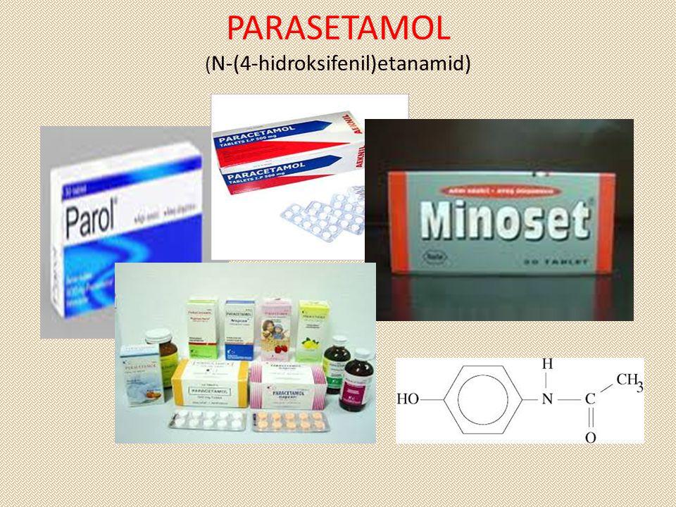 PARASETAMOL ( N-(4-hidroksifenil)etanamid)