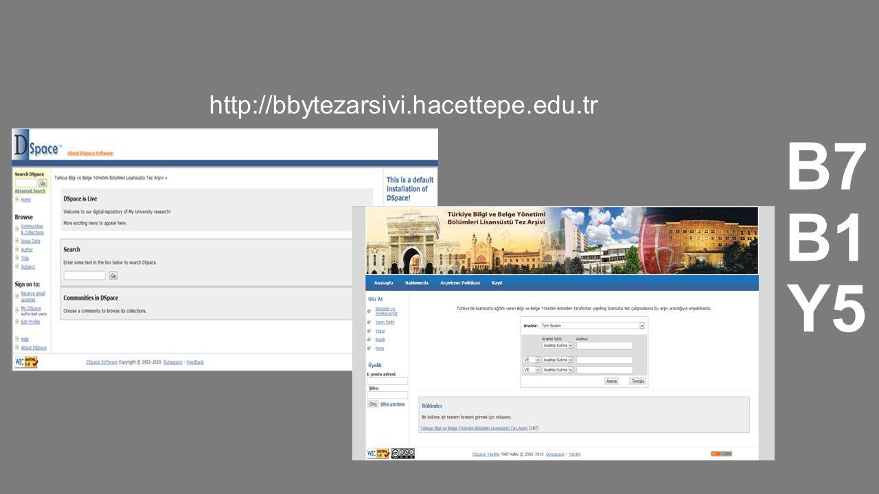 B7 B1 Y5 http://bbytezarsivi.hacettepe.edu.tr