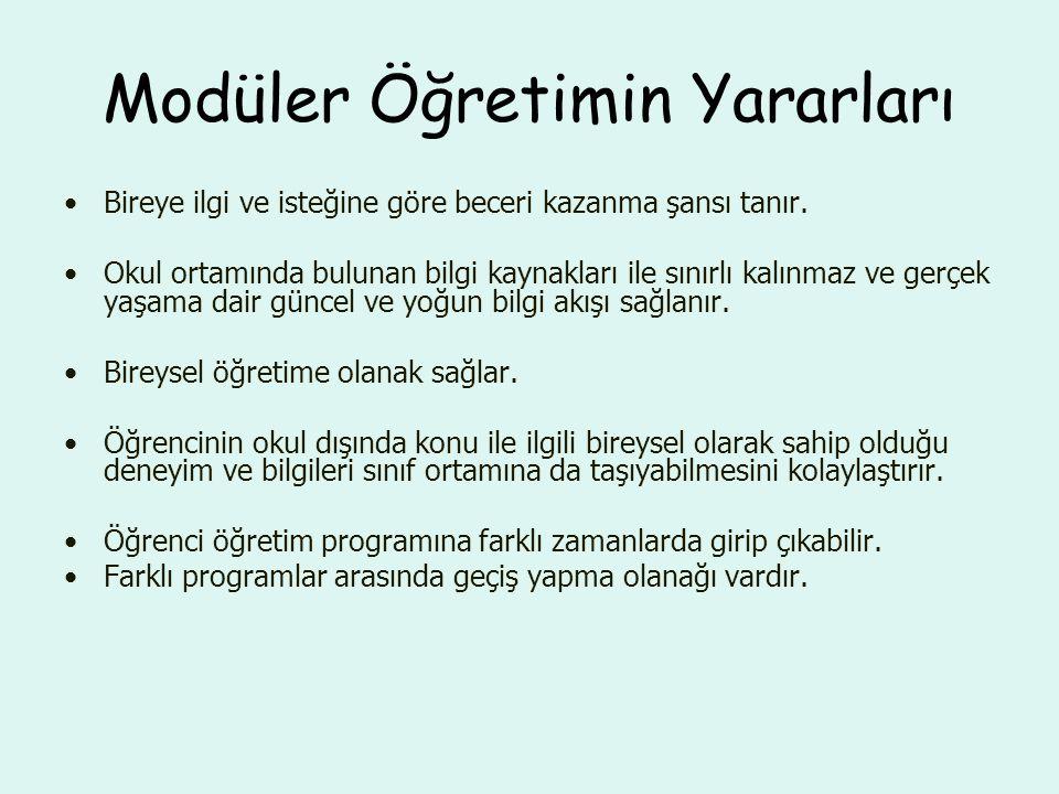 Türkiye'de Modüler Öğretim 1975-79 (MEB) Endüstriyel Eğitimi Geliş.