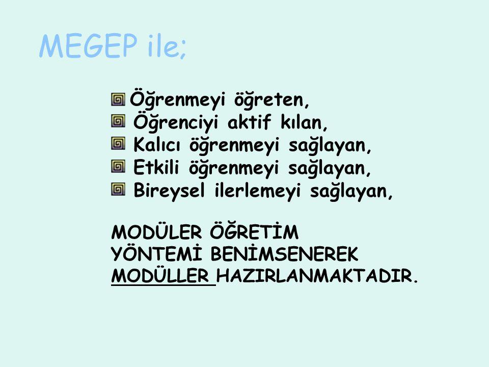 MEGEP'de 17 alan 64 dalda modüler program çalışmaları sürmektedir.