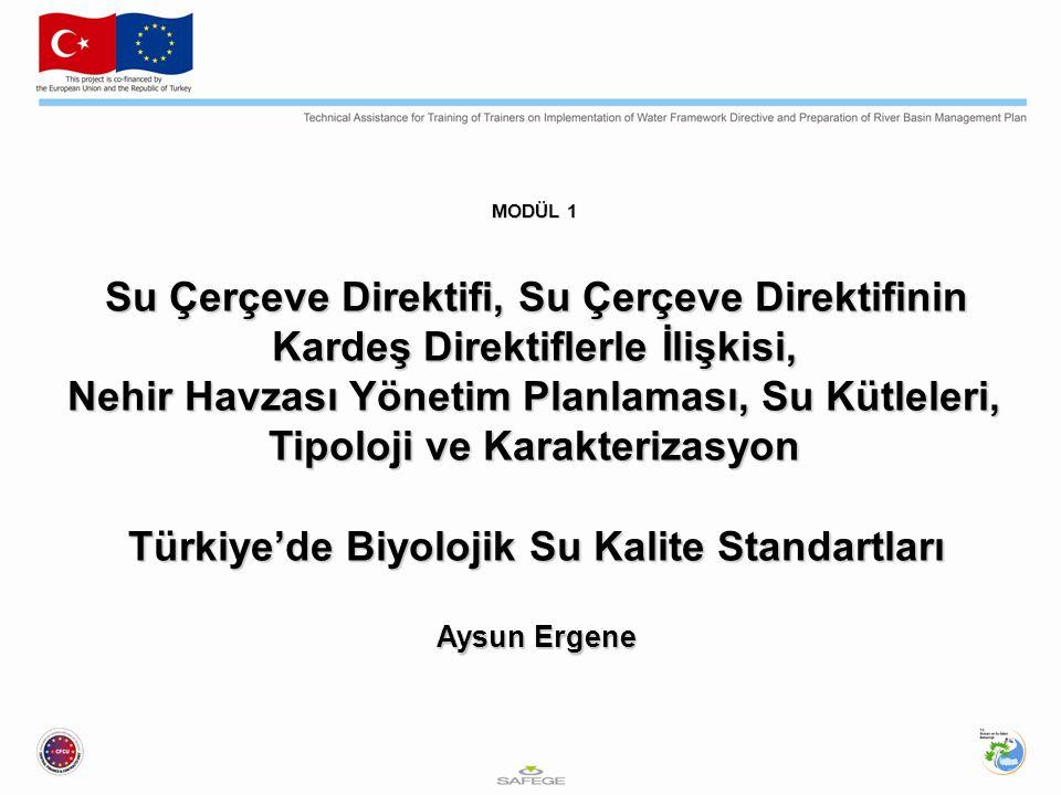 MODÜL 1 Su Çerçeve Direktifi, Su Çerçeve Direktifinin Kardeş Direktiflerle İlişkisi, Nehir Havzası Yönetim Planlaması, Su Kütleleri, Tipoloji ve Karak
