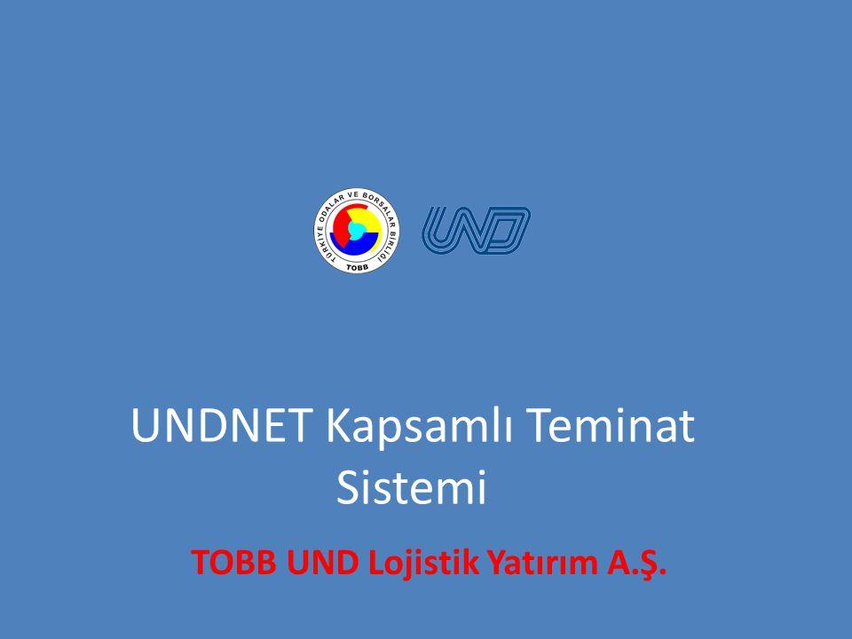 UNDNET Kapsamlı Teminat Sistemi TOBB UND Lojistik Yatırım A.Ş.