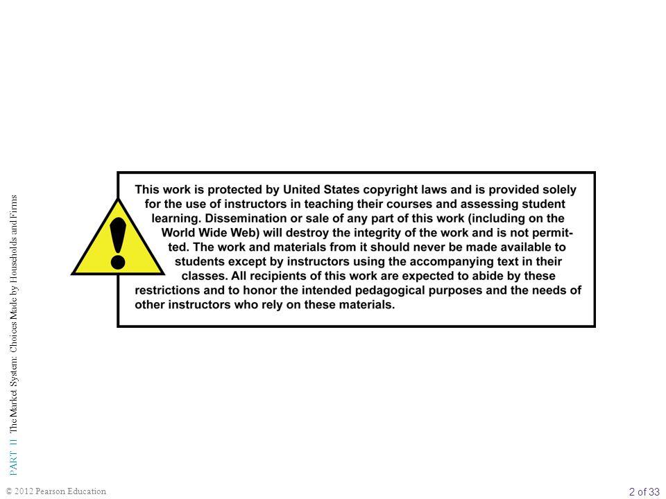 13 of 33 PART II The Market System: Choices Made by Households and Firms © 2012 Pearson Education Sermaye Piyasası Mali Piyasalar Durum A: İşletme Kredileri Bankalar hanehalklarının tasarrufları ile oluşan fonları kredi vermek üzere kullanırlar.