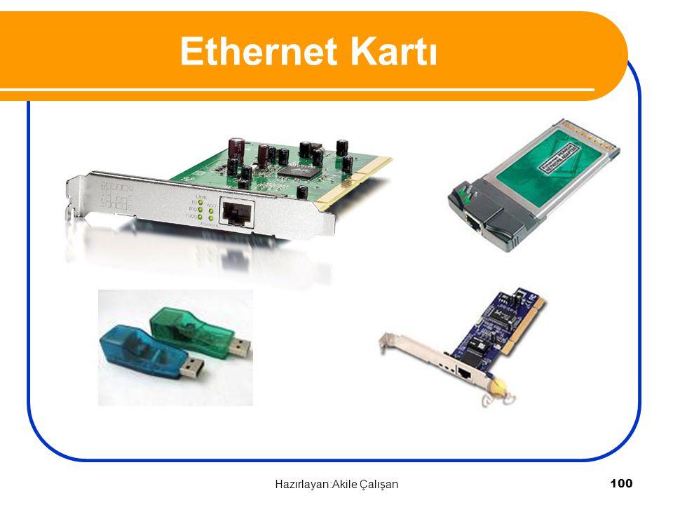 Ethernet Kartı 100 Hazırlayan:Akile Çalışan