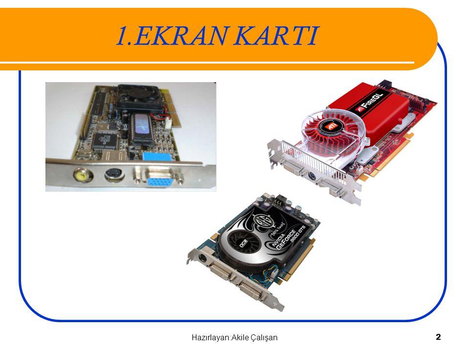 Ethernet Kartı Onboard – Tümleşik Anakart 103 Hazırlayan:Akile Çalışan