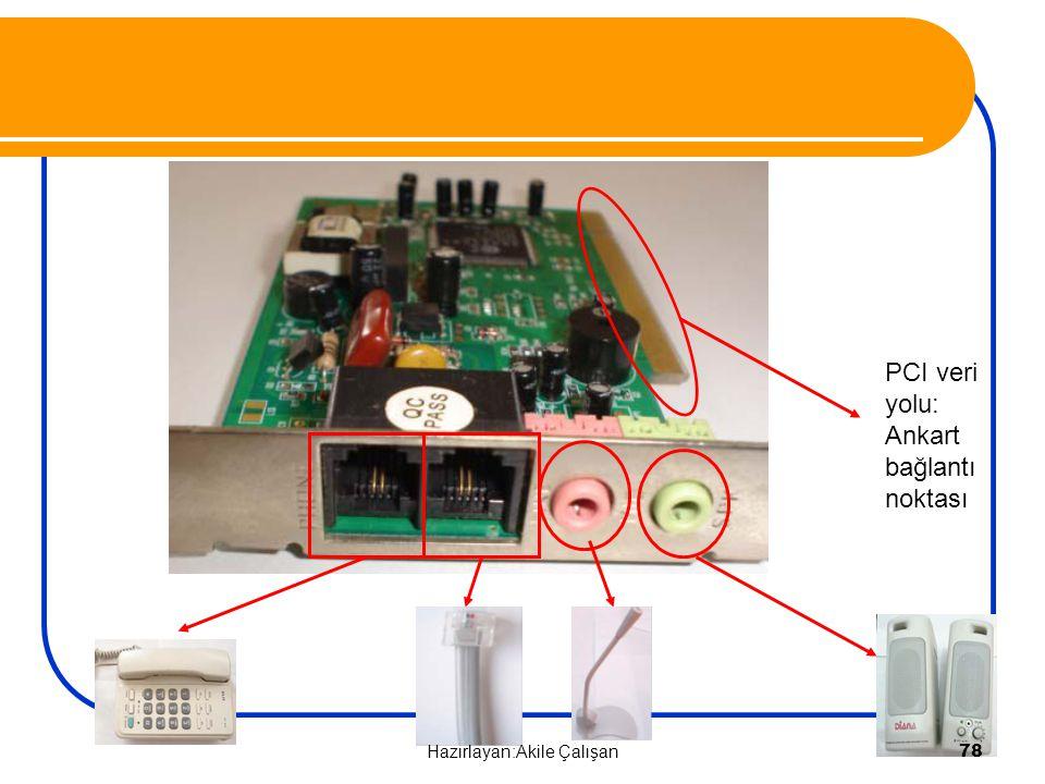 PCI veri yolu: Ankart bağlantı noktası 78 Hazırlayan:Akile Çalışan