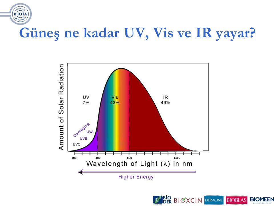 UV ışınlarının Dünyadaki Yolculuğu Çok yüksek enerjili UVC Ozon tabakası tarafından emilir.