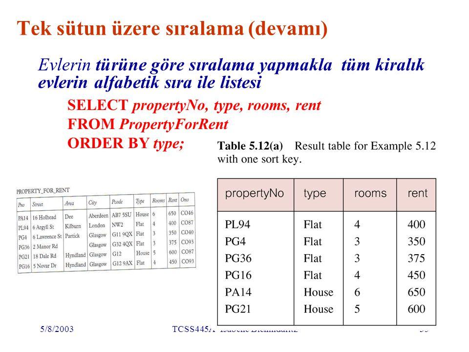 5/8/2003TCSS445A Isabelle Bichindaritz36 Çok sütun üzere sıralama Bu listede 4 daire ( flat ) bulunmaktadır.