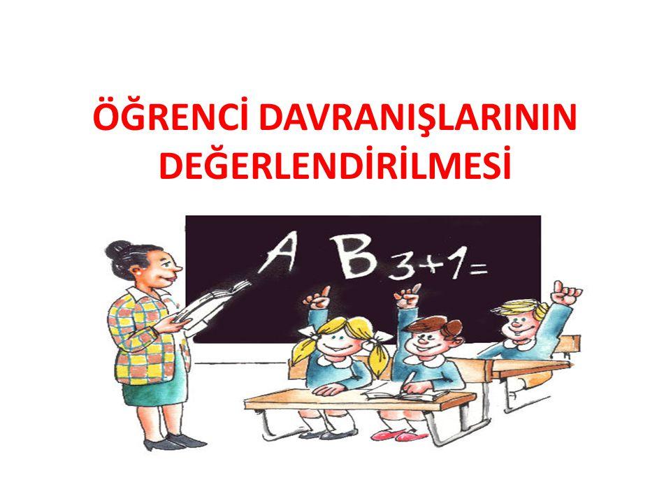 Öğrencilerden beklenen davranışlar Okula ve derslere düzenli devam etmeleri, Bütün okul arkadaşlarının kendisi gibi Türk toplumunun ve Türkiye Cumhuriyeti'nin bir bireyi olduklarını unutmamaları,onur ve haklarına saygı göstermeleri, Öğretmenlerine,okul yöneticilerine,görevlilere,arkadaşlarına ve çevresindeki kişilere saygılı ve hoşgörülü davranmaları, Doğru sözlü,dürüst olmaları,yalan söylememeleri, İyi ve nazik tavırlı olmaları,kaba söz ve davranışlardan kaçınmaları, Okulda yapılacak sosyal ve kültürel etkinliklere katılmaları, Kitapları sevmeleri,korumaları,okuma alışkanlığı kazanmaları,