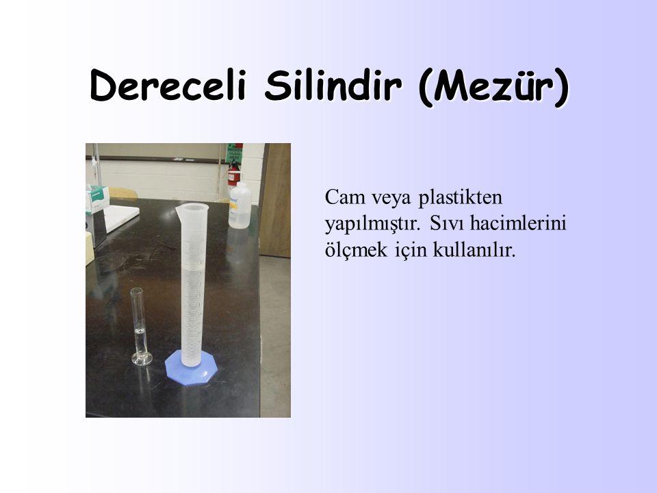 Deney tüpü Deney tüpü: Çapı 1,5 ile 1,8 cm; boyu 15-18 cm arasında olan cam malzeme.