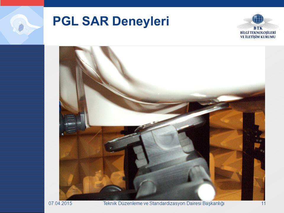 LOGO 07.04.2015Teknik Düzenleme ve Standardizasyon Dairesi Başkanlığı11 PGL SAR Deneyleri