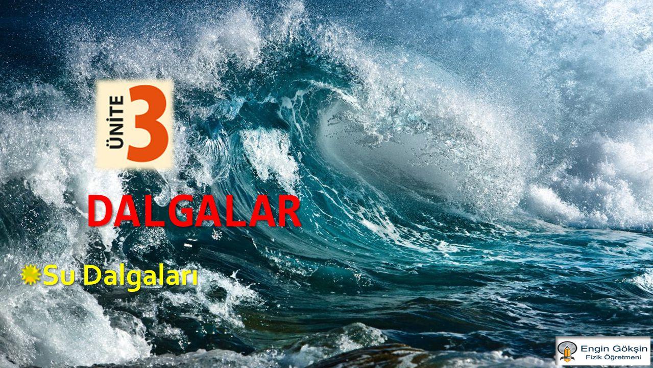 SU DALGALARINDA KIRILMA Engin GÖKŞİN Bir ortamdan, farklı derinlikteki başka bir ortama geçen su dalgalarının hızları ile birlikte hareket doğrultularının değişmesine kırılma denir.