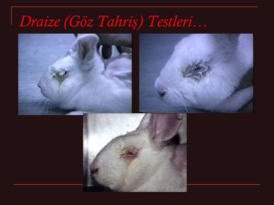Draize (Göz Tahri ş ) Testleri…