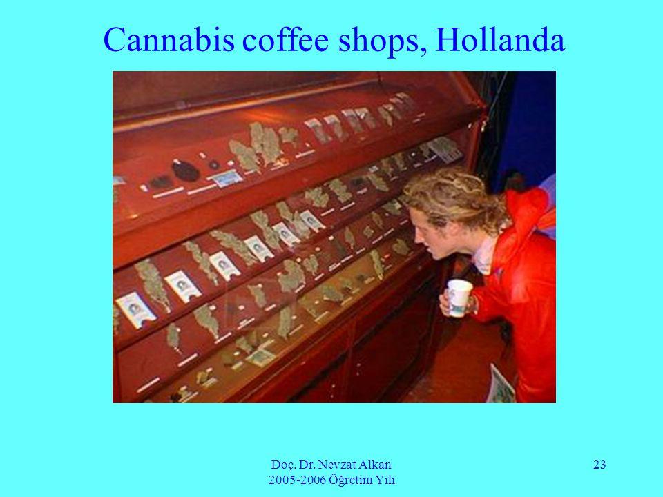 Doç. Dr. Nevzat Alkan 2005-2006 Öğretim Yılı 23 Cannabis coffee shops, Hollanda