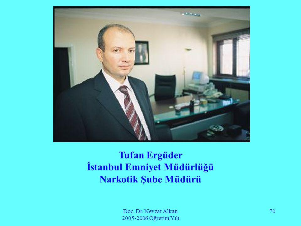 Doç. Dr. Nevzat Alkan 2005-2006 Öğretim Yılı 70 Tufan Ergüder İstanbul Emniyet Müdürlüğü Narkotik Şube Müdürü