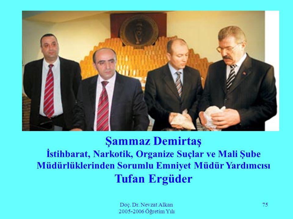 Doç. Dr. Nevzat Alkan 2005-2006 Öğretim Yılı 75 Şammaz Demirtaş İstihbarat, Narkotik, Organize Suçlar ve Mali Şube Müdürlüklerinden Sorumlu Emniyet Mü