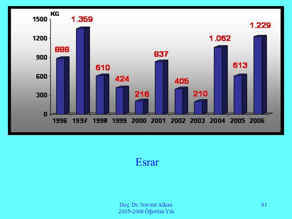 Doç. Dr. Nevzat Alkan 2005-2006 Öğretim Yılı 81 Esrar body>