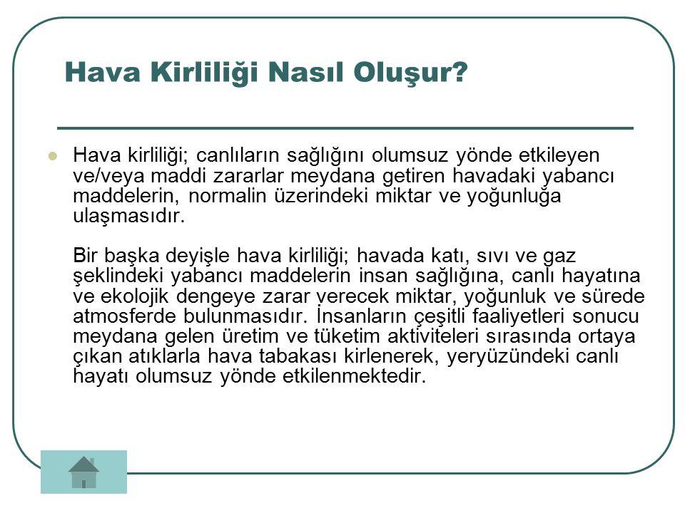Konu Başlıkları Hava Kirliliği Nasıl Oluşur? Nasıl Önlemler Almalıyız? Türkiye'de Hava Kirliliği Oranı Kapanış