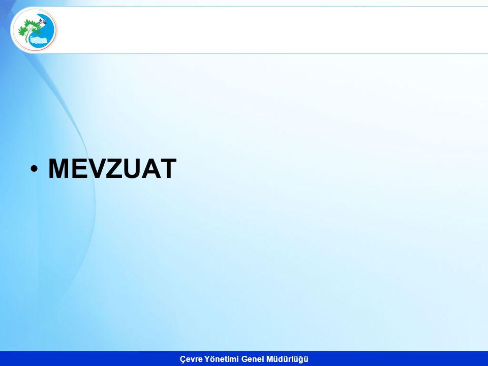 Çevre Yönetimi Genel Müdürlüğü MEVZUAT