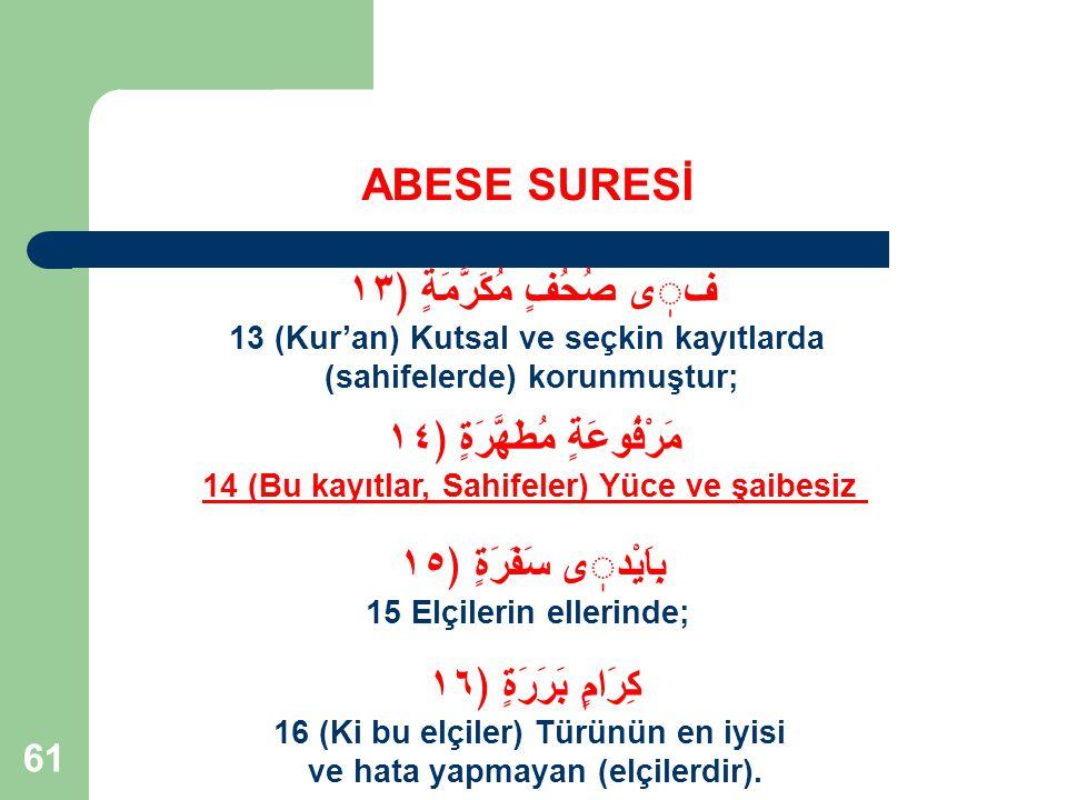 62 ABESE SURESİ 2.