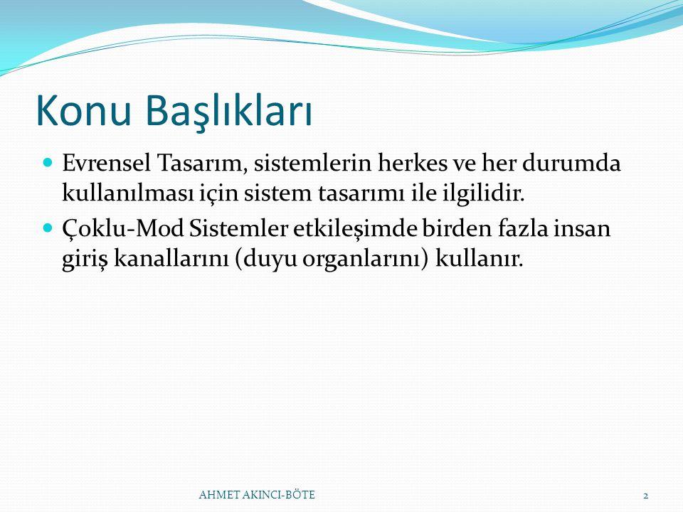 EVRENSEL TASARIM İLKELERİ 4.
