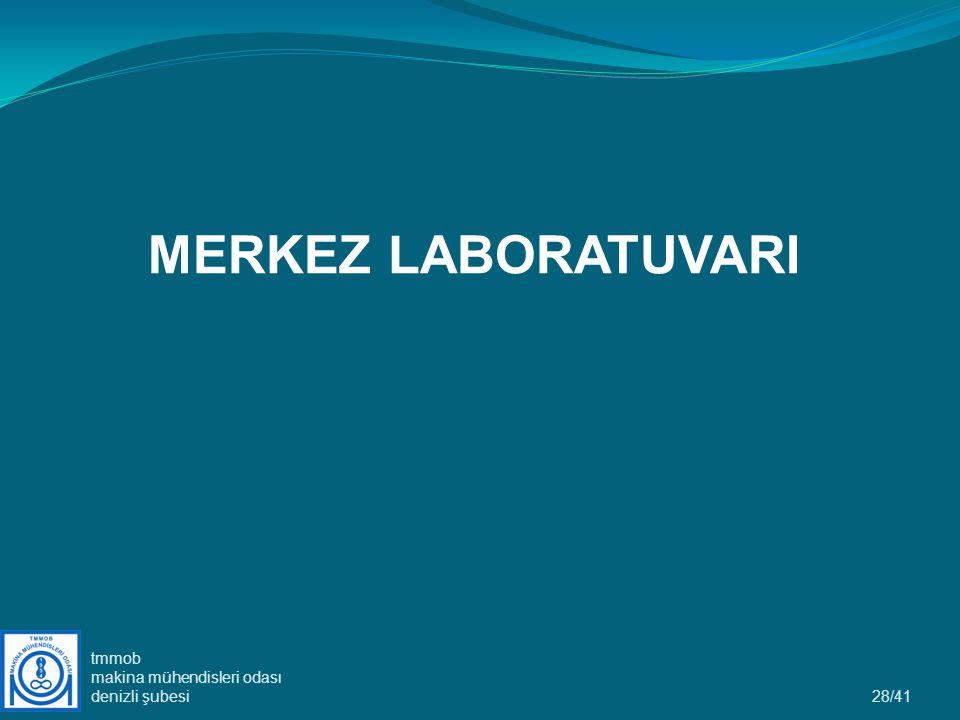 28/41 MERKEZ LABORATUVARI tmmob makina mühendisleri odası denizli şubesi