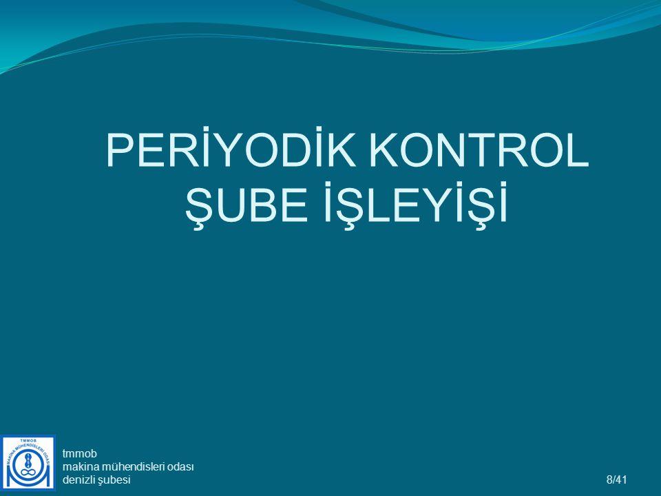 8/41 PERİYODİK KONTROL ŞUBE İŞLEYİŞİ tmmob makina mühendisleri odası denizli şubesi