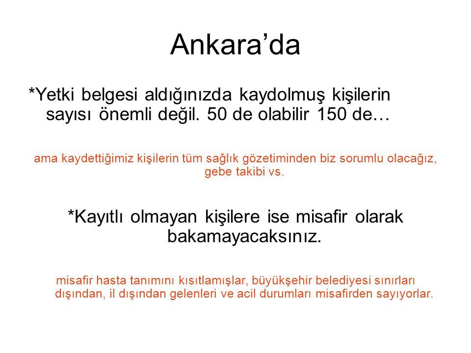 Ankara'da *Yetki belgesi aldığınızda kaydolmuş kişilerin sayısı önemli değil.