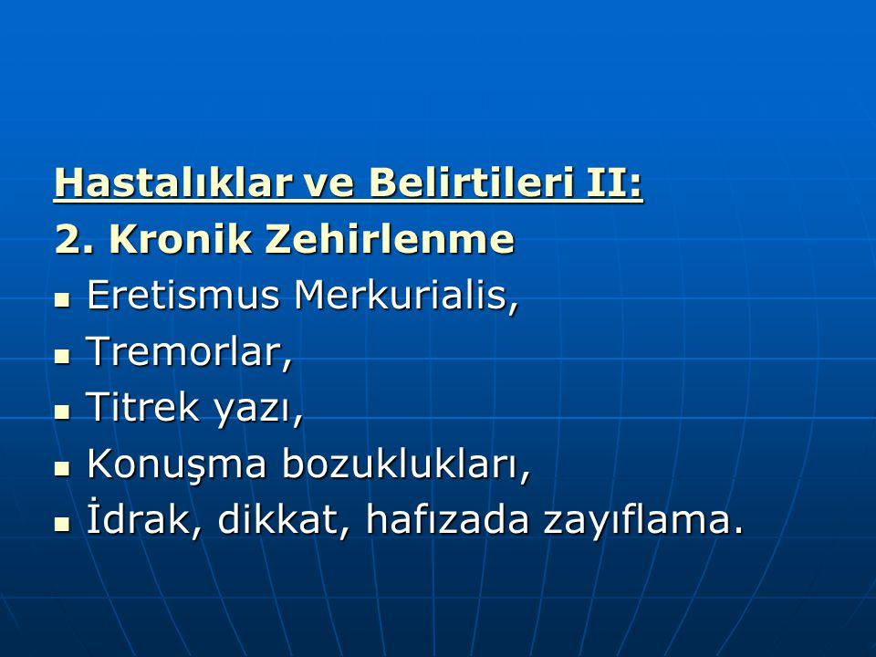 Hastalıklar ve Belirtileri II: 2. Kronik Zehirlenme Eretismus Merkurialis, Eretismus Merkurialis, Tremorlar, Tremorlar, Titrek yazı, Titrek yazı, Konu