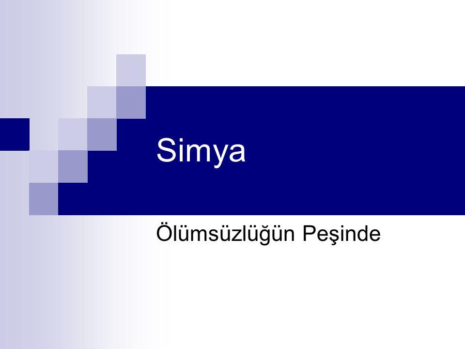 Simya Simya, Kimya'nın öncülü olarak bilinmekle birlikte, bundan çok daha fazlasını ifade eder: yalnız bilimsel değil, hatta bundan daha fazla, dinsel, büyüsel ve felsefi boyutları vardır.