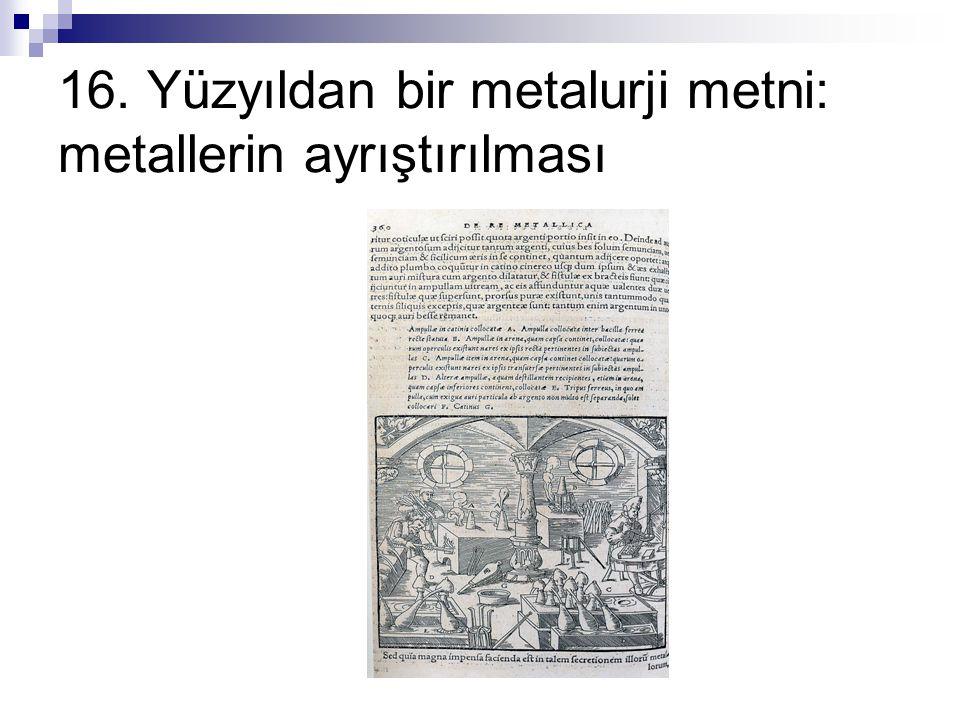 16. Yüzyıldan bir metalurji metni: metallerin ayrıştırılması