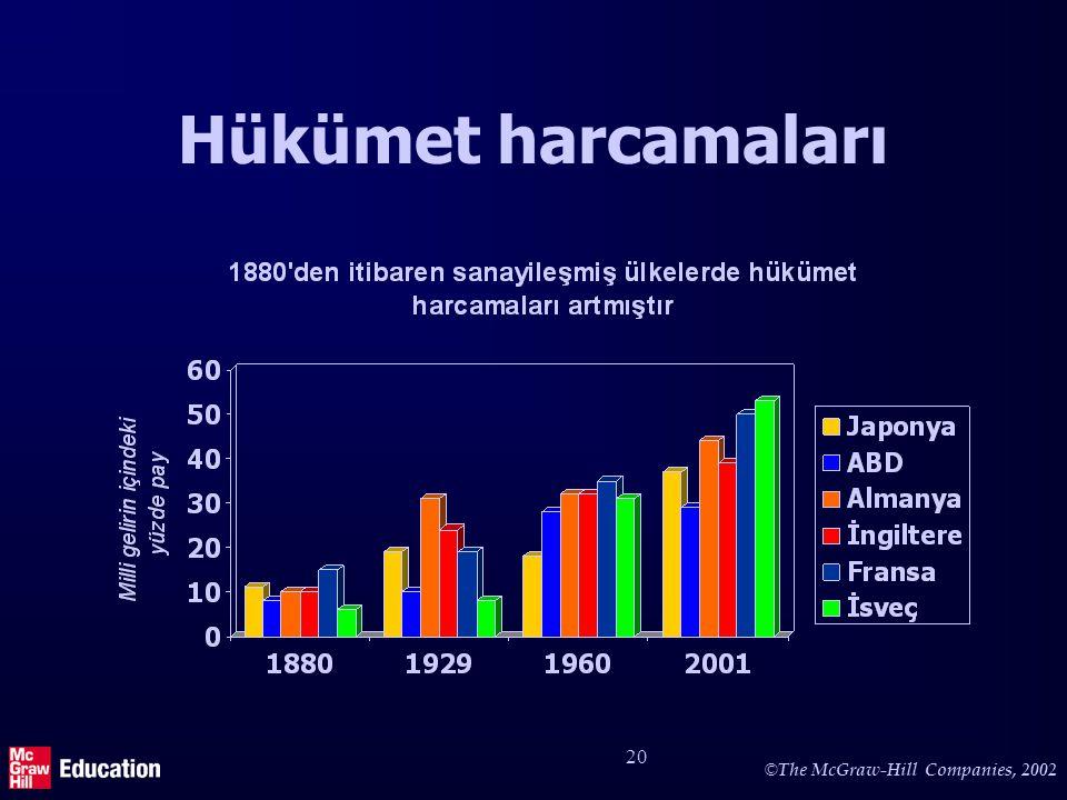 © The McGraw-Hill Companies, 2002 20 Hükümet harcamaları