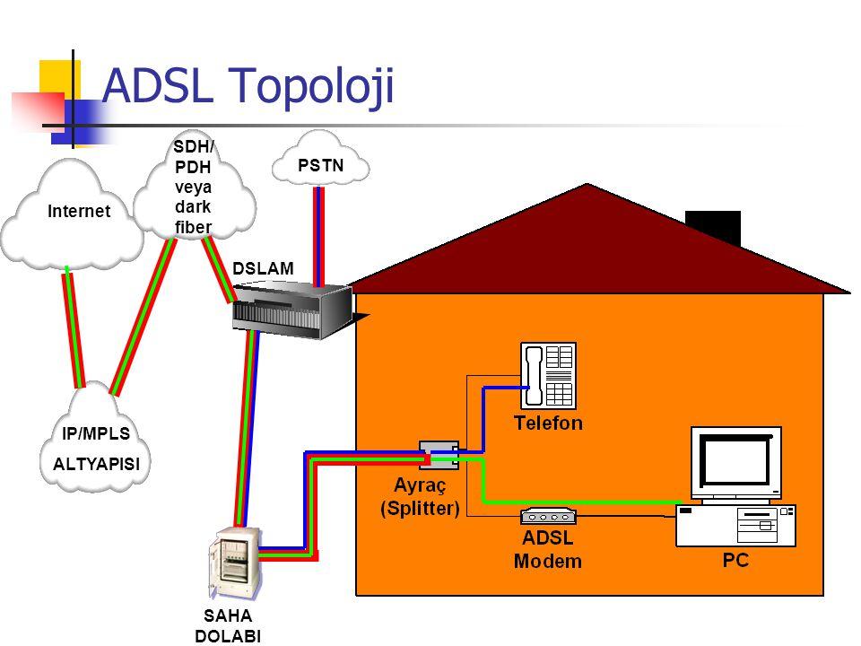 Download : 128 Kbps – 8 Mbps Upload: 32 Kbps – 2 Mbps Müşteri-Telekom mesafe: 3-5 km.'ye kadar 1 çift bakır tel (İki tel) üzerinden çalışır. ADSL DOWN