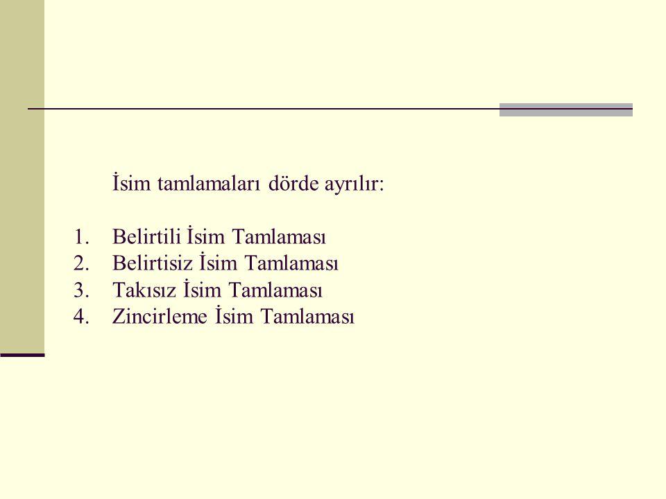 Öğretmenin not defteri B.siz isim. tam. ………………………………………… Zincirleme İsim Tamlaması