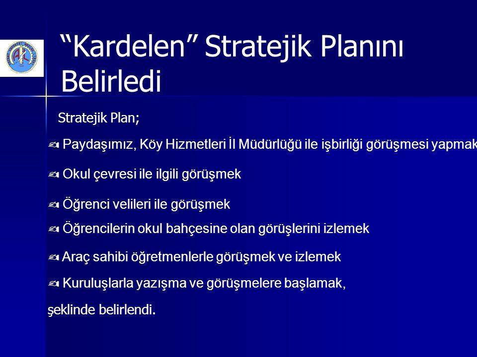 """""""Kardelen"""" Stratejik Planını Belirledi Stratejik Plan; ✍ Paydaşımız, Köy Hizmetleri İl Müdürlüğü ile işbirliği görüşmesi yapmak ✍ Okul çevresi ile ilg"""