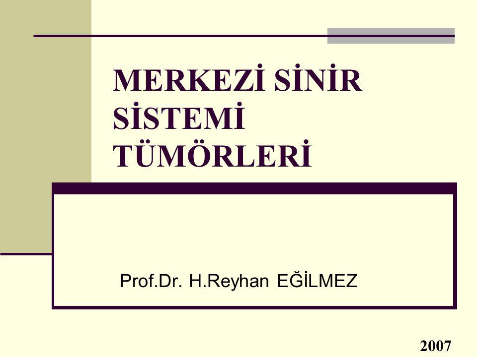 MERKEZİ SİNİR SİSTEMİ TÜMÖRLERİ Prof.Dr. H.Reyhan EĞİLMEZ 2007