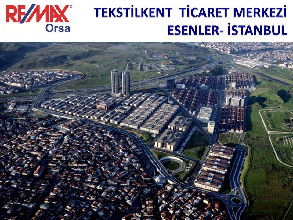 LOKASYON Tekstilkent Ticaret Merkezi TEM otoyolu kenarında, İstanbul Esenler bölgesinde 330.000 m2 lik bir arazi üzerine kurulmuştur.