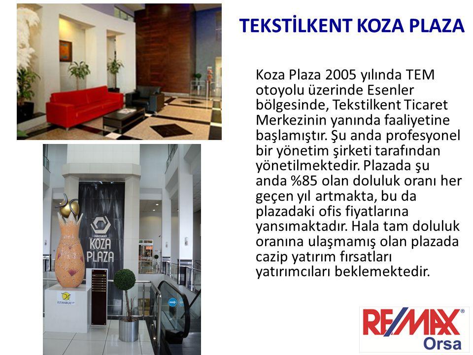 Koza Plaza 2005 yılında TEM otoyolu üzerinde Esenler bölgesinde, Tekstilkent Ticaret Merkezinin yanında faaliyetine başlamıştır. Şu anda profesyonel b