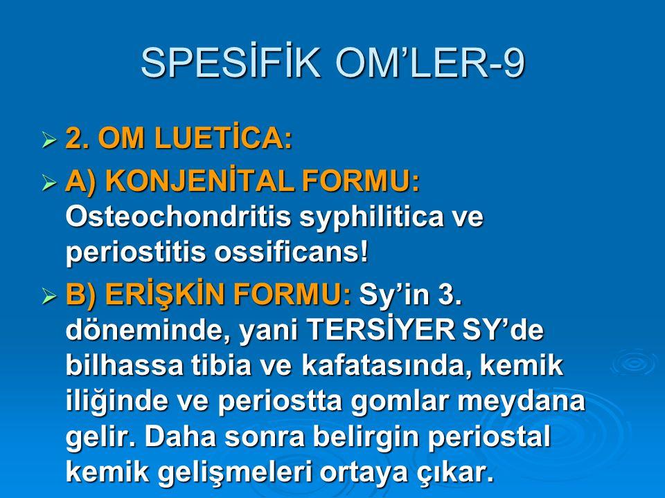 SPESİFİK OM'LER-9  2.