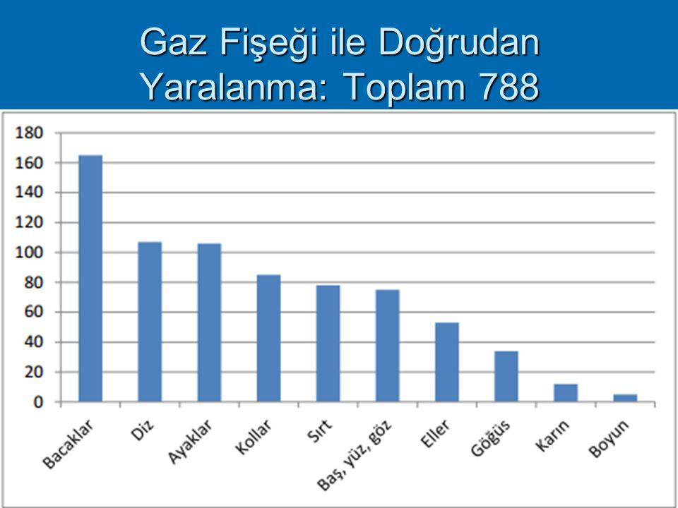 Gaz Fişeği ile Doğrudan Yaralanma: Toplam 788