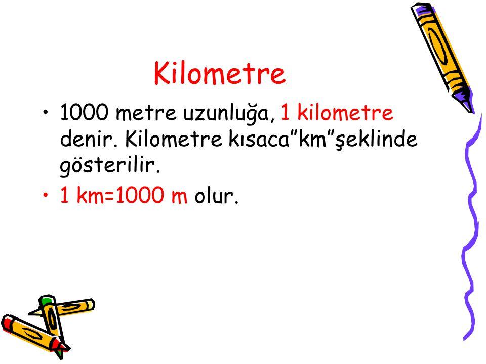 "Hektometre 100 m uzunluğa, 1 hektometre denir.Hektometre kısaca""hm""şeklinde gösterilir. 1 hm=100 m olur."