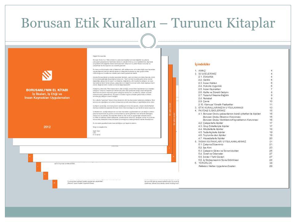 Borusan Etik Kuralları – Turuncu Kitaplar