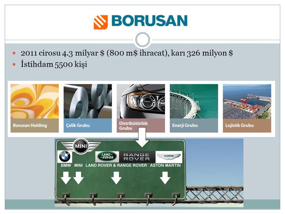 2011 cirosu 4.3 milyar $ (800 m$ ihracat), karı 326 milyon $ İstihdam 5500 kişi