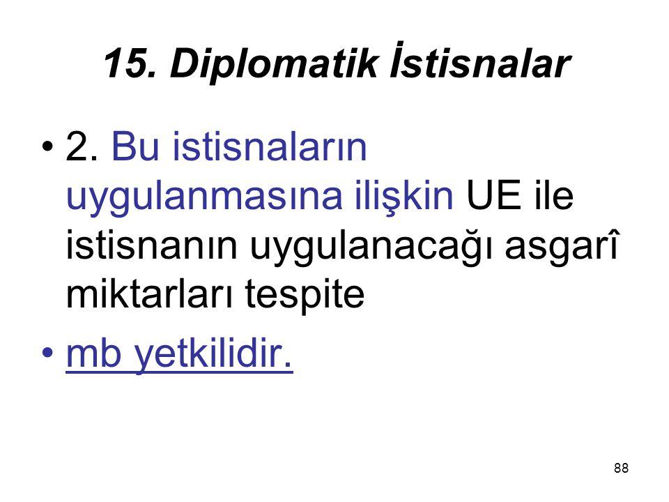 88 15.Diplomatik İstisnalar 2.