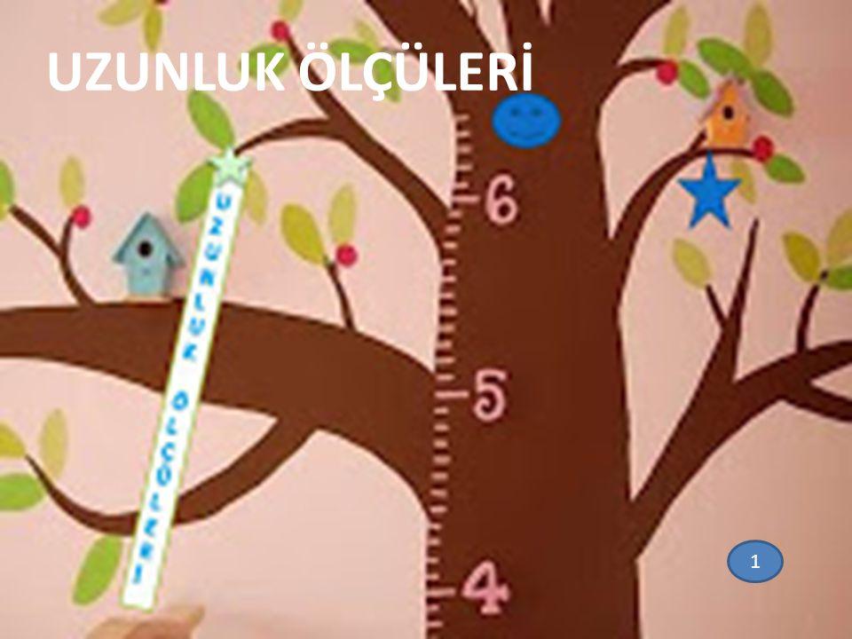Giriş: Uzunluk ölçü biriminin temeli metre dir.Kısaca m harfi ile gösterilir.