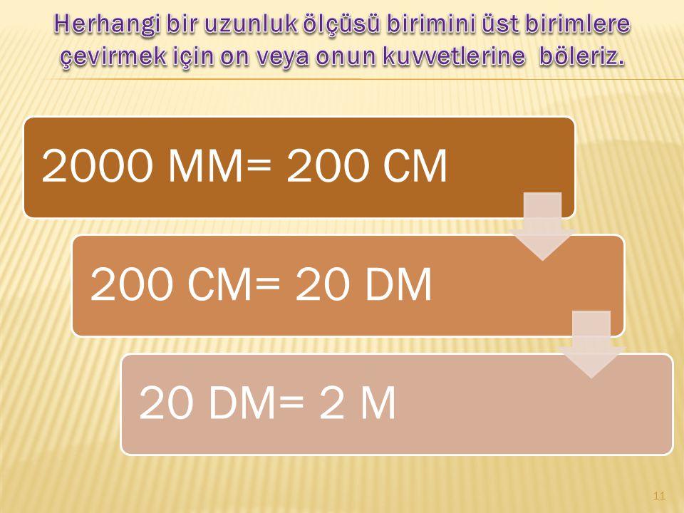 7 KM = 70 HM 70 HM= 700 DAM 700 DAM = 7000 M 10