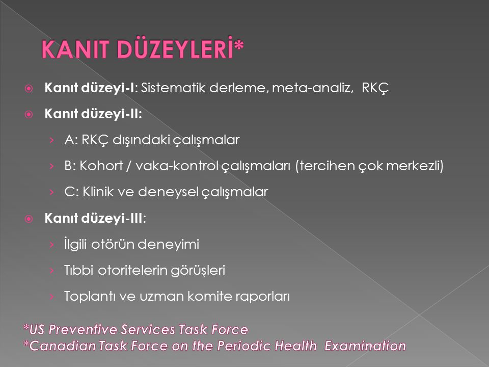  Rutin idrar ve gayta incelemesi: › Asemptomatik çocuk ve adolesanlarda sağlık üzerine etkisini gösteren yeterli bilimsel kanıt yoktur Rourke Baby Record: Evidence-based infant/child health maintenance, http://www.rourkebabyrecord.ca http://www.rourkebabyrecord.ca Blank D.