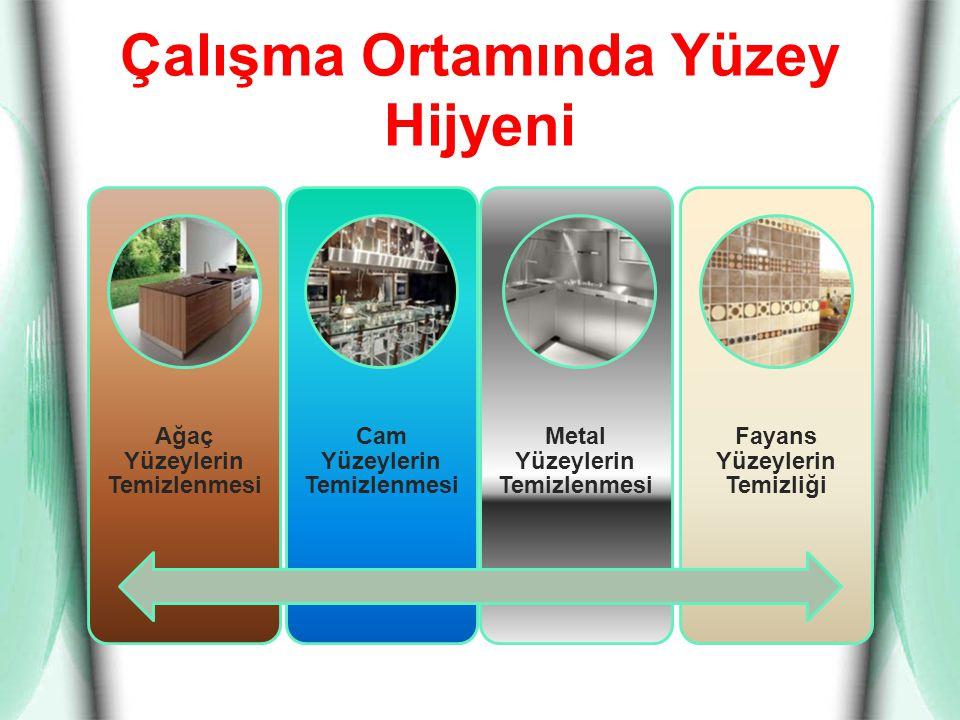 Çalışma Ortamında Yüzey Hijyeni Ağaç Yüzeylerin Temizlenmesi Cam Yüzeylerin Temizlenmesi Metal Yüzeylerin Temizlenmesi Fayans Yüzeylerin Temizliği
