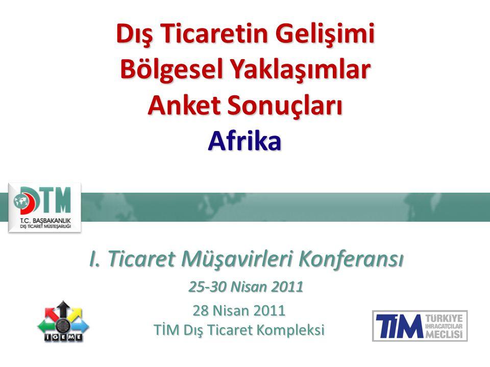 Dış Ticaretin Gelişimi Bölgesel Yaklaşımlar Anket Sonuçları Afrika I.
